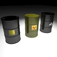 3d 55 gallon drum model