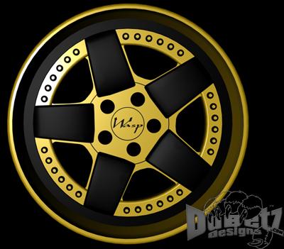 designs wasp 1 wheels 3d c4d