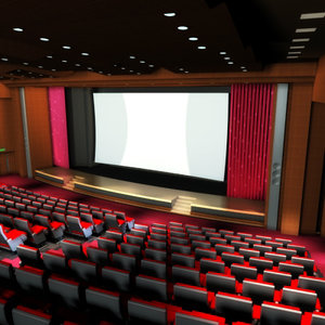 movie theatres 3d model