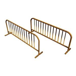3d model metal barriers streets
