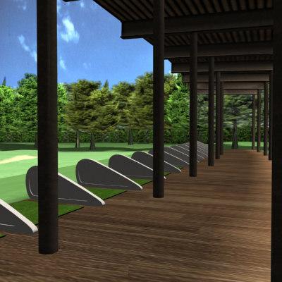 3dsmax golf driving range