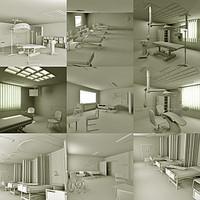 Hospital interiors 3ds-fbx