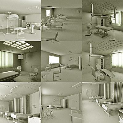 interiors hospital 3d 3ds