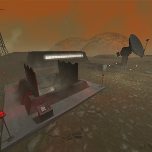 3d outpost harsh silo radar dish model