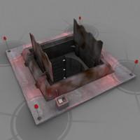 silo hatch 3d model