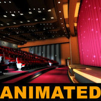 curtains movie theatres 3d model