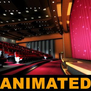 curtains movie theatres 3d model
