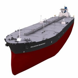 3d super tanker model