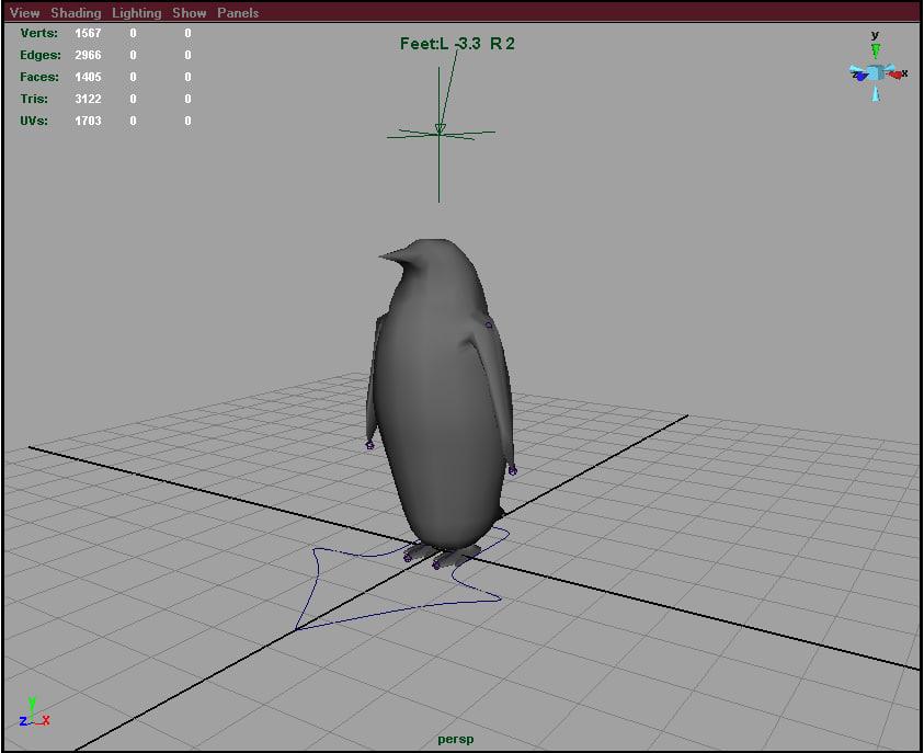 penguin animate 3d model