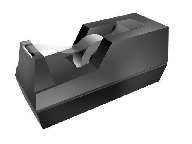tape dispenser office desk 3d 3ds