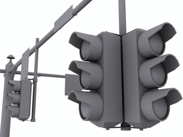 3d traffic lights