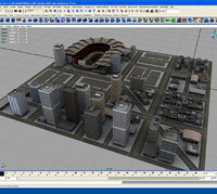 3d football stadium buildings rt