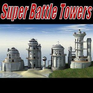 sci-fi battle towers super 3d 3ds