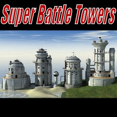 sci-fi battle towers super 3d 3ds