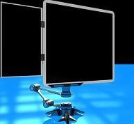 rotating monitor 3d model