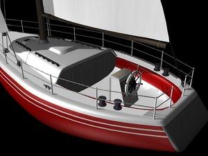 sailboat sail boat 3d 3ds