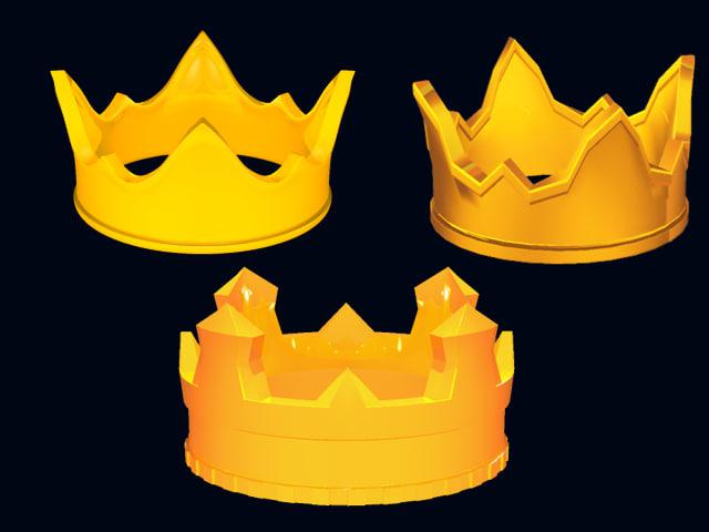 3d 3 crowns model