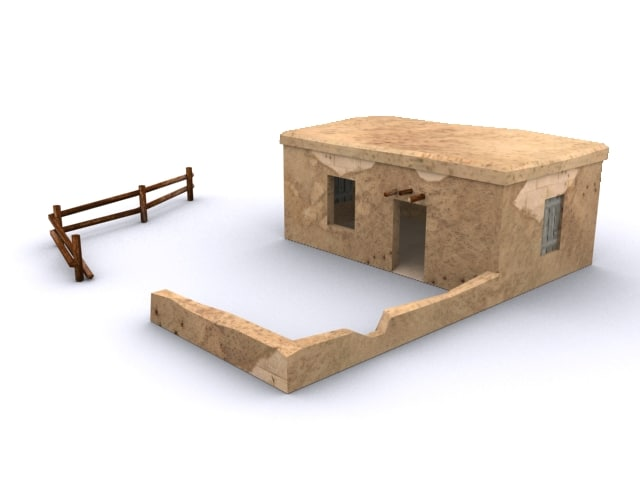 2 houses adobe 3d 3ds
