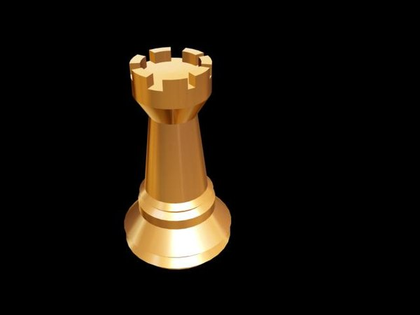 3d model chess rook