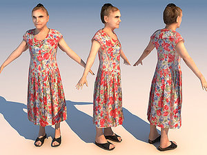old woman 01 character 3d model