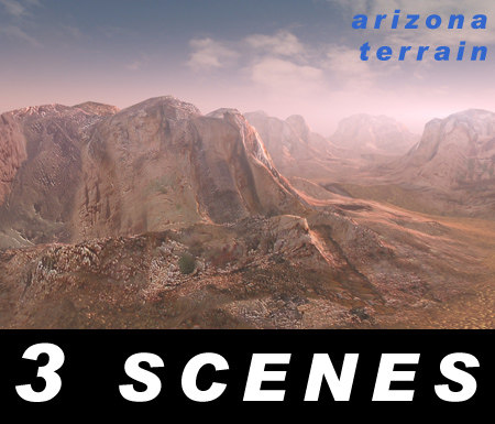 mountain arizona - landscapes 3d model