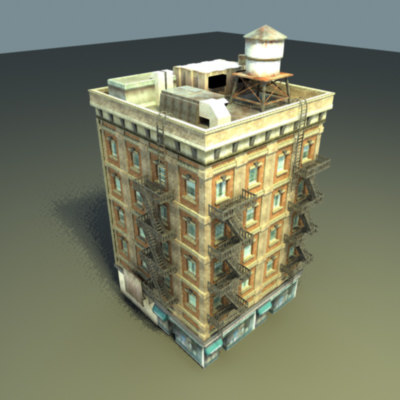 3d model multi city building