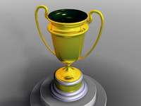 3d model of winners golden cup