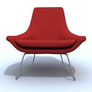 flow chair 3d max