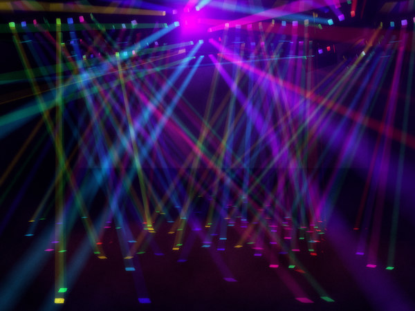 colored disco lights environment 3d model