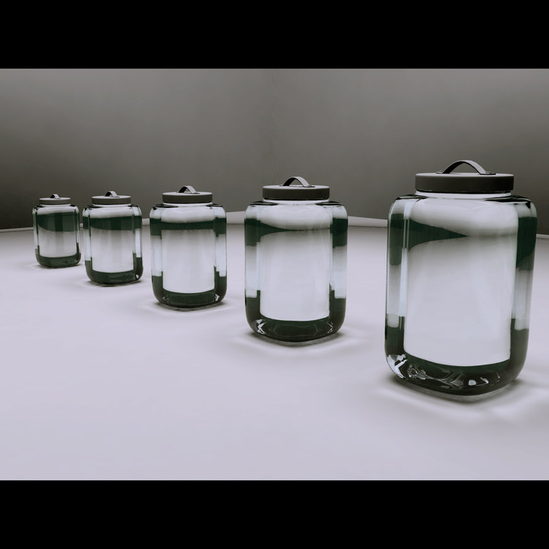 3d decorative glass jars