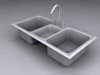 3 kitchen sink 3d max