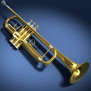 trumpet selmer 3d model