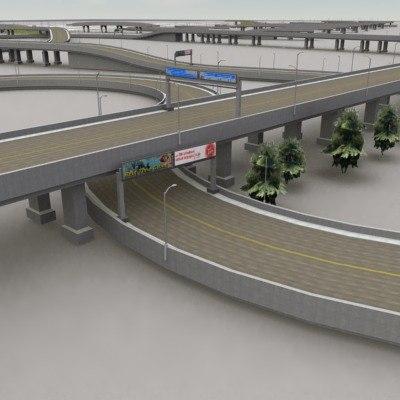 3dsmax highway road rt