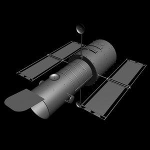 3ds max hubble telescope