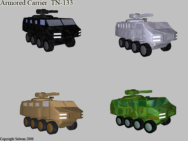 3d - armored carrier model