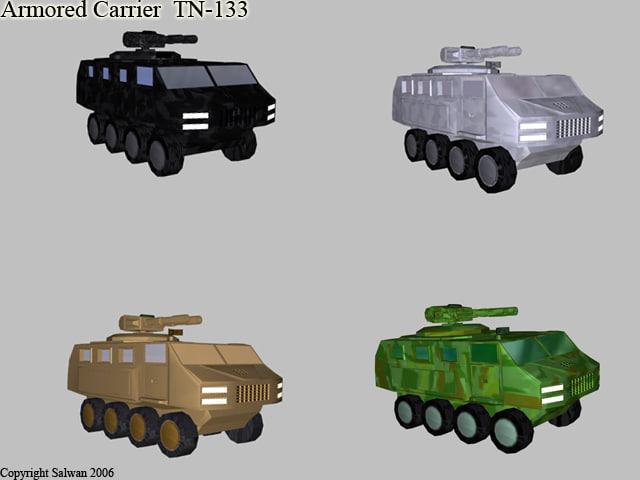 3d - armored carrier model