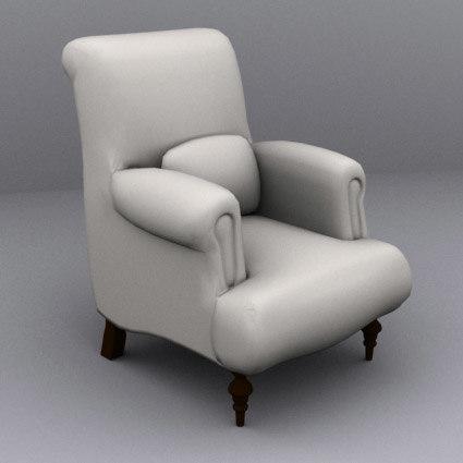 fancy armchair 3d x