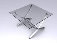 3d modern living room table model