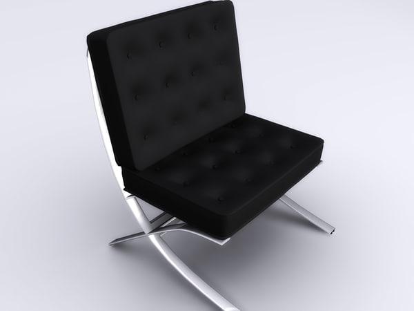 3d modern living room chair
