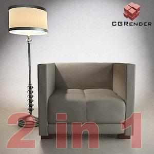 3d armchair lamp
