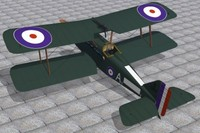 3d model of royal aircraft factory se5a