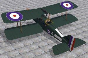 3d model of royal aircraft factory se5a