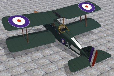 royal aircraft factory se5a 3d model