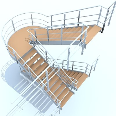 3d staircase stair model
