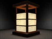 3d small japanese lantern model