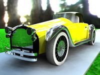 free sporting oldtimer car 3d model
