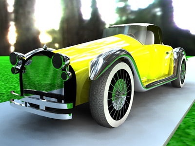 free sporting oldtimer car 3d model
