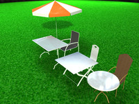 chairs tables 3d model