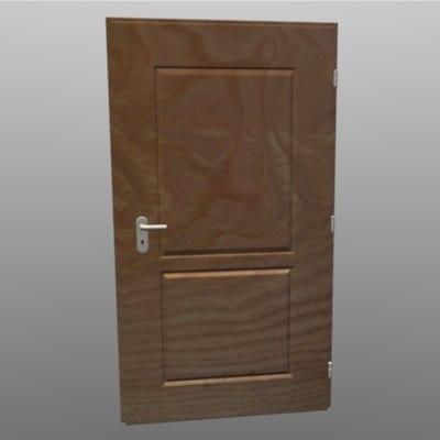 door wooden details 3d model