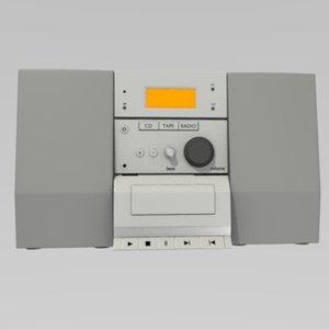 3d model hifi soundsystem